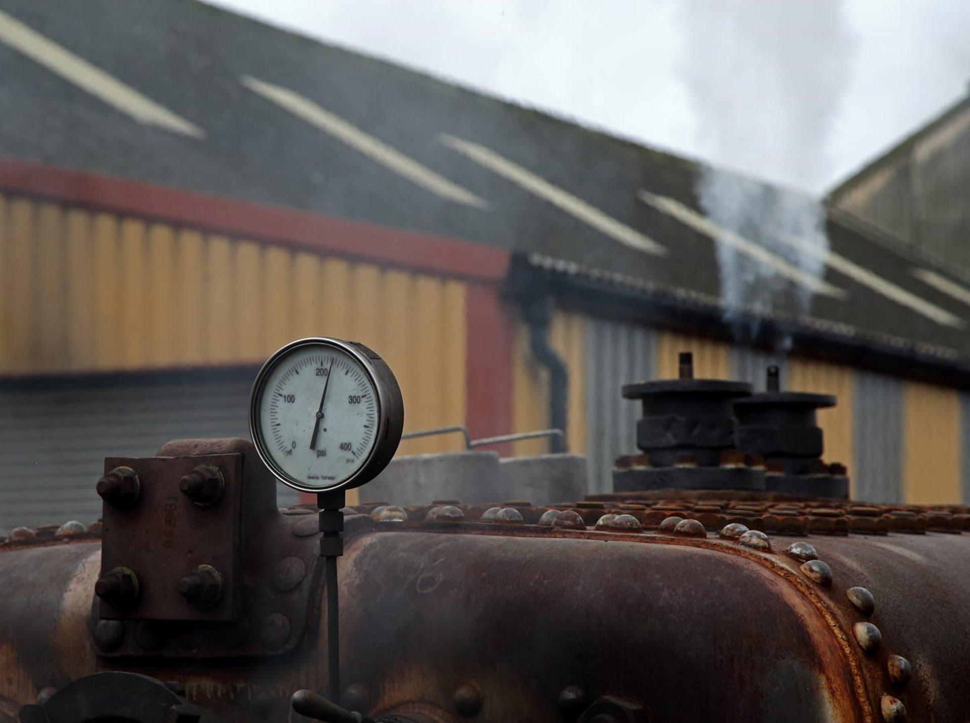 """45596 """"Bahamas""""'s Boiler undergoing Steam Teat Credit John Hillier"""
