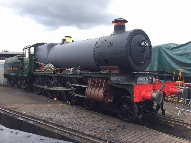 "6880 ""Betton Grange"" at Tyseley on display // Credit Phil Waterfield"