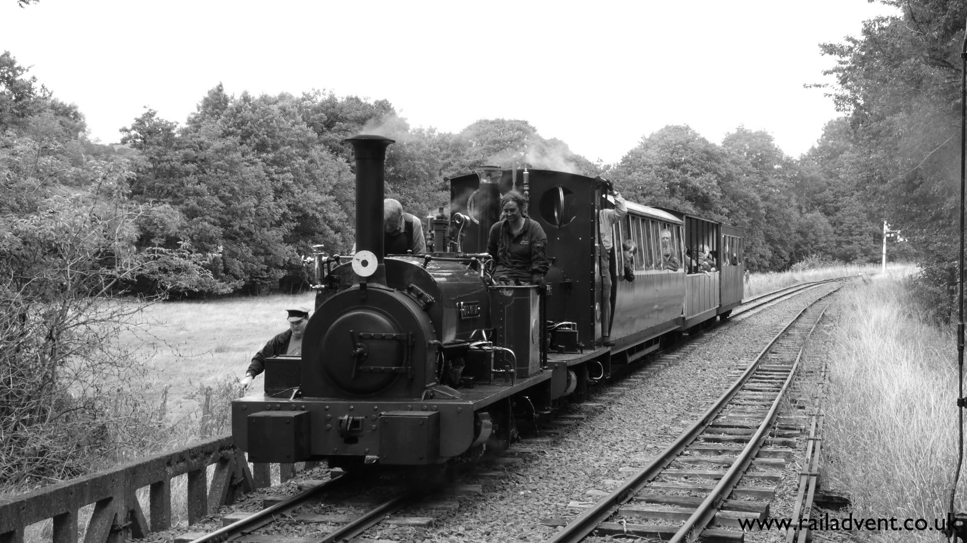 Maid Marian and Holy War at Llangower on the Bala Lake Railway