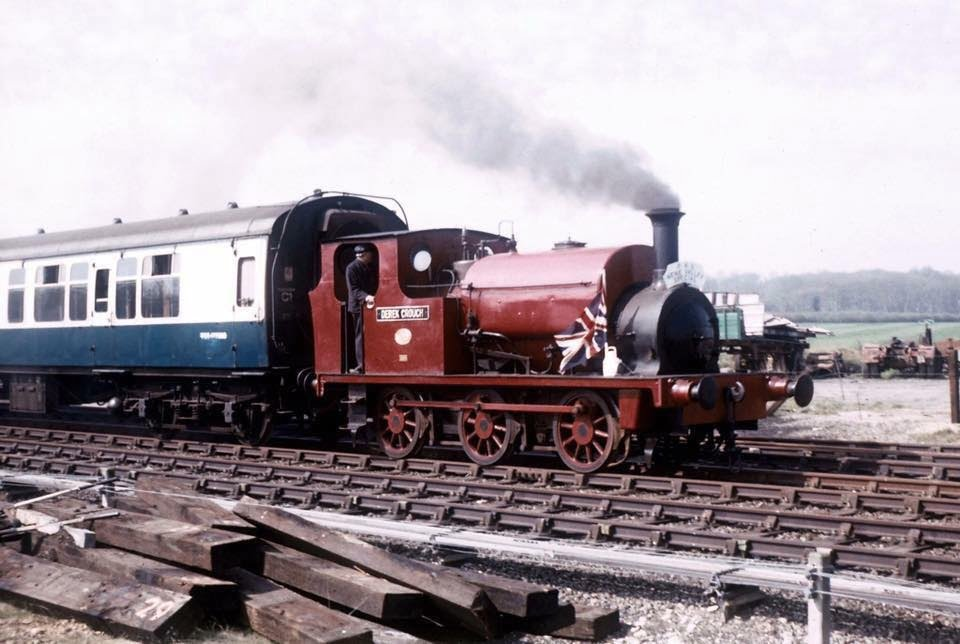 Derek Crouch hauling a train // Credit The Small Loco Group FB Page