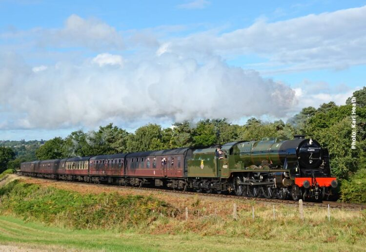 46100 Royal Scot in steam and will visit the Keighley and Worth Valley Railway in 2018