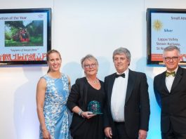 Lappa Valley Railway have won silver in the Cornwall Tourist Awards