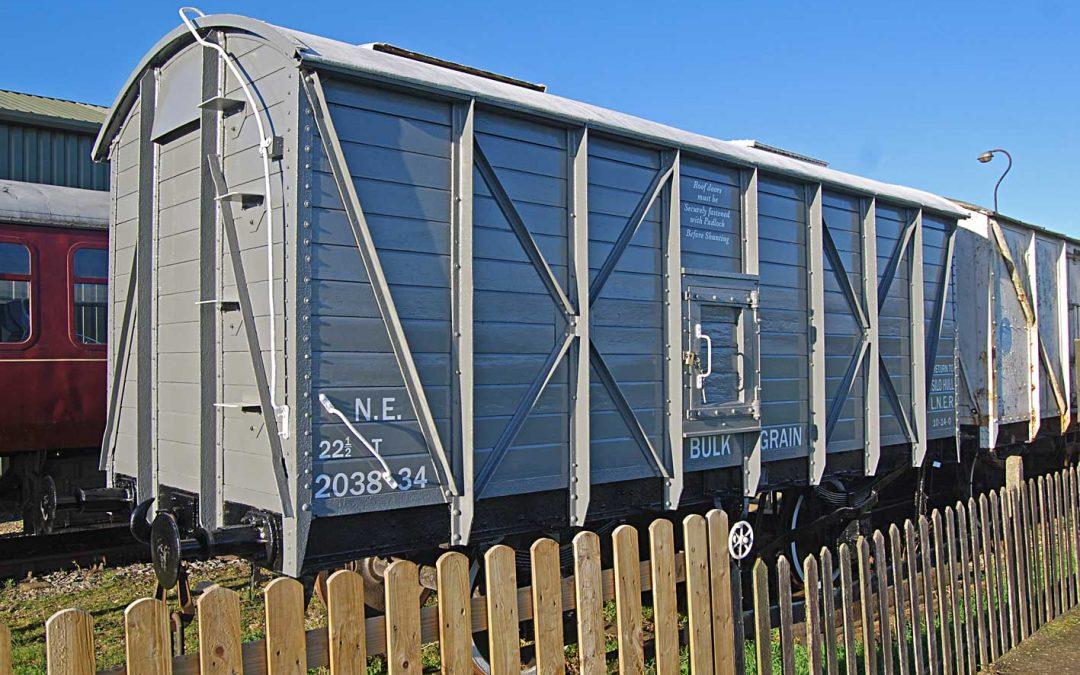 Lincolnshire Wolds Railway Grain Wagon overhauled