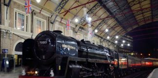Oliver Cromwell simmers away at London Victoria