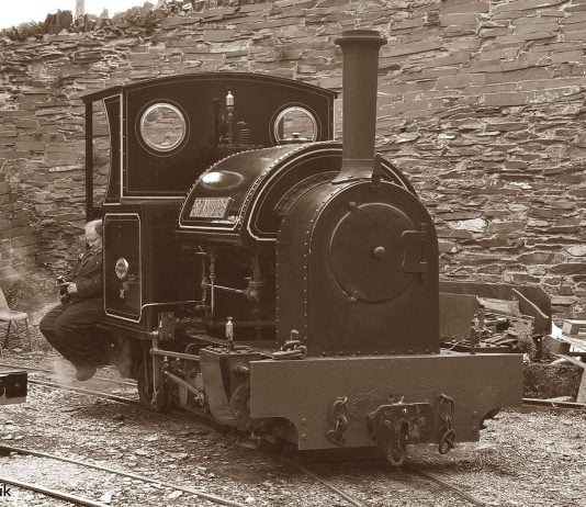 Stanhope on shed at the Penrhyn Quarry Railway