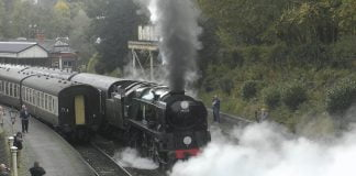 Sir Keith Park Slips Its way out of Llangollen Railway