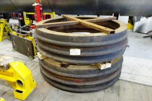 Six Recently Acquired Tyres for 3403's Driving Wheels // Credit The A1 Steam Locomotive Trust