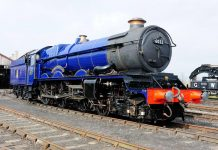"6023 ""King Edward II"" at Didcot Railway Centre // Credit Didcot Railway Centre"