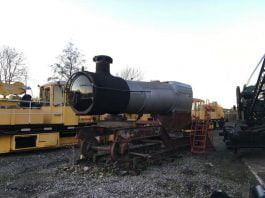 6695's Boiler ready for the move to the Flour Mill // Credit 6695 Loco Group FB Page