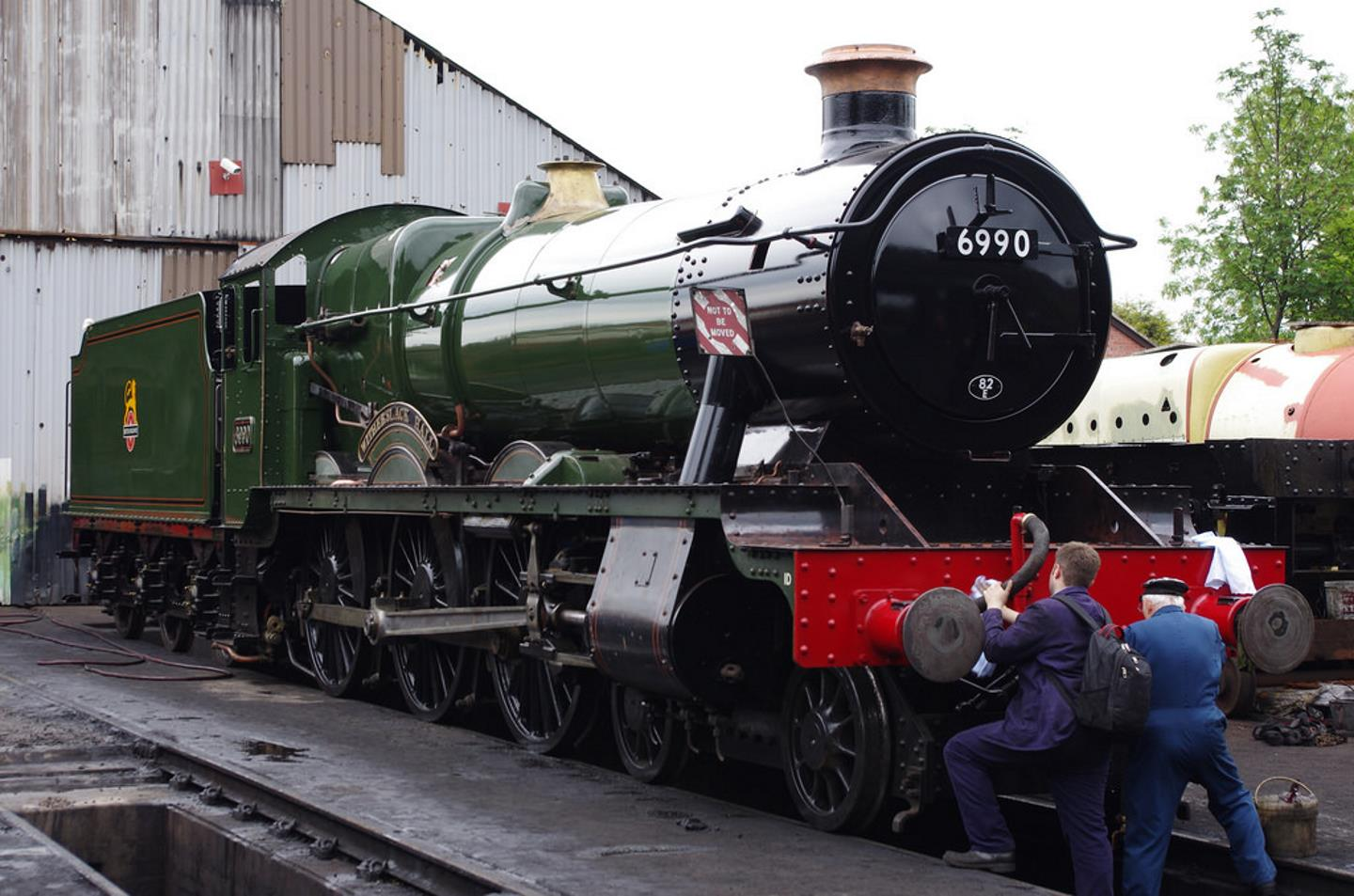 """6990 """"Witherslack Hall"""" at Loughborough MPD // Credit Neil Pulling"""