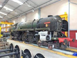 "70000 ""Britannia"" with Wheels and other Components removed // Credit Icons of Steam"