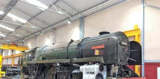 """70000 """"Britannia"""" with Wheels and other Components removed // Credit Icons of Steam"""