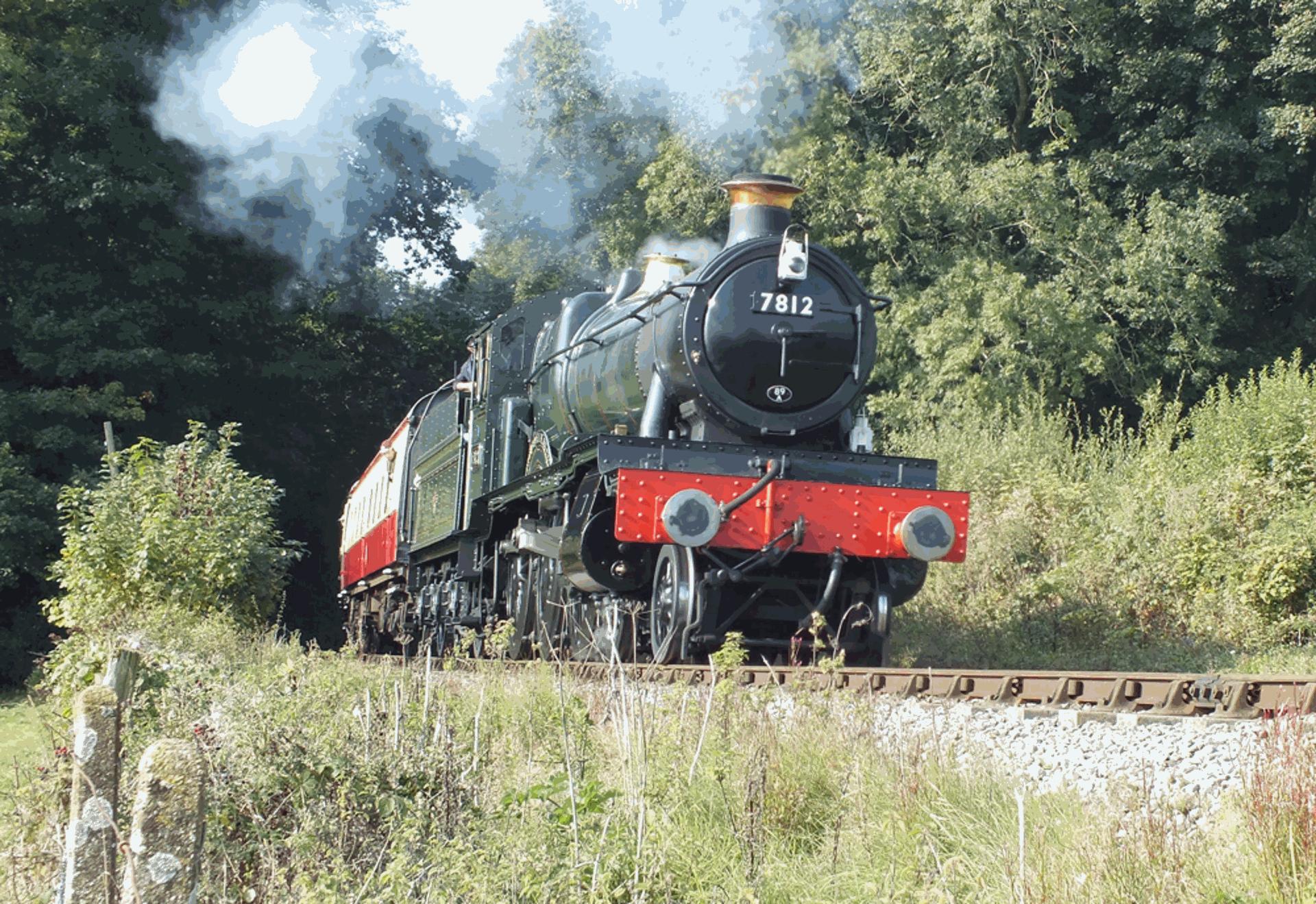 "7812 ""Erlestoke Manor"" on the Severn Valley Railway // Credit Erlestoke Manor Fund website"