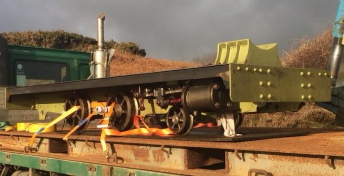 steam locomotive Brown Bear is off to cumbria to finish its build