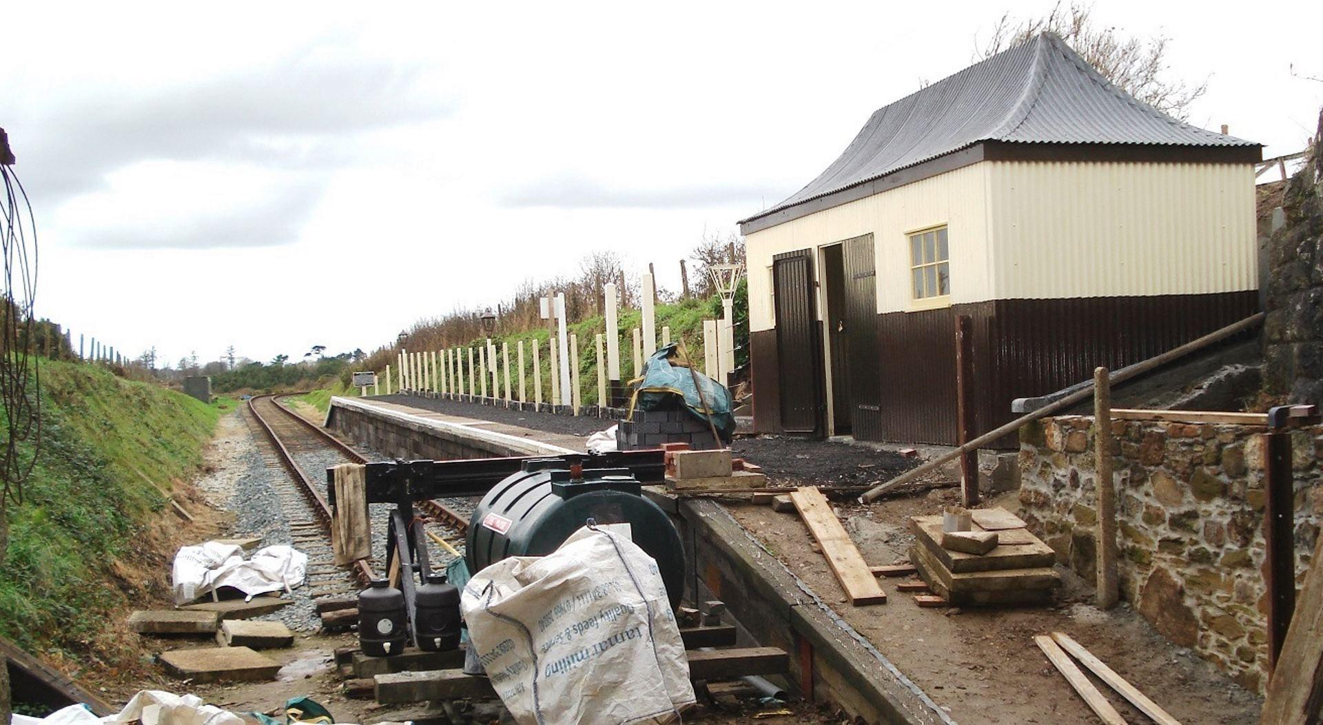 Truthall Halt Station on the Helston Railway