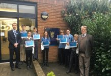 Chiltern Railways Art Comp Winners from Chalfonts Independent Grammar School