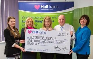 Hull Trains raise £1750 for Hull Childrens University