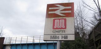 Mills Hill railway station in manchester