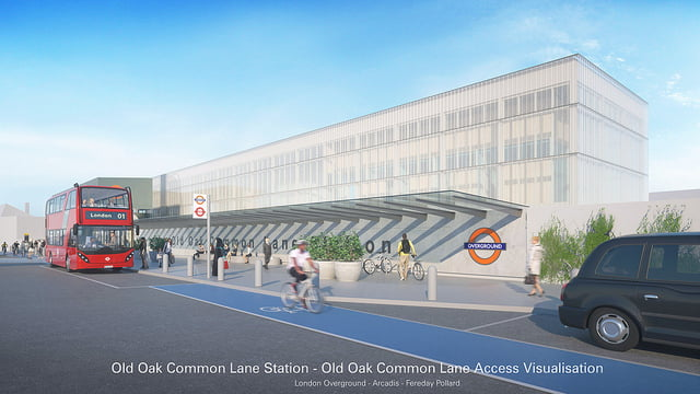 Proposed new Old Oak Common station