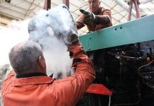 Passing the Liner up // Credit Watercress Line Website