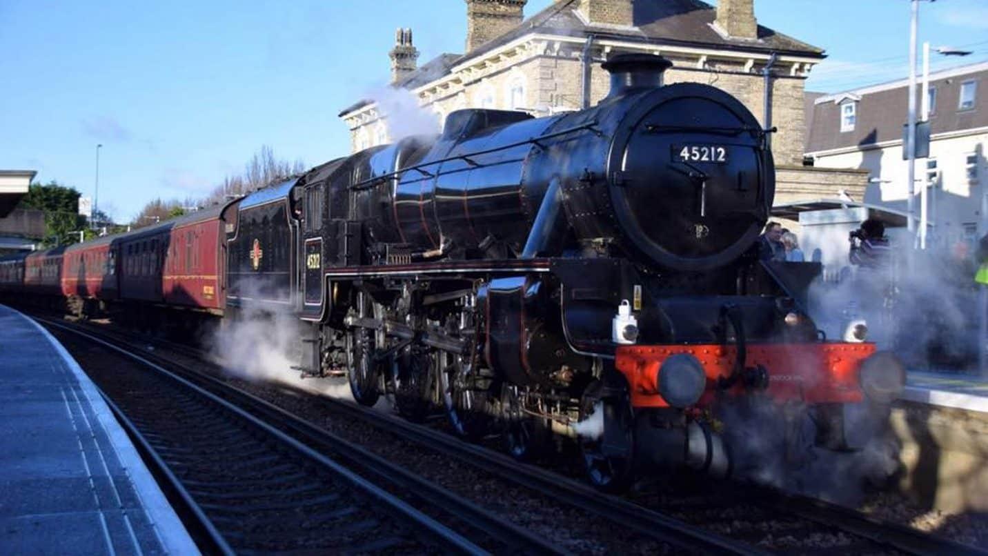 Steam locomotive no. 45212