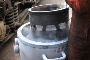 Liner in Liquid Nitrogen // Credit Watercress Line Website