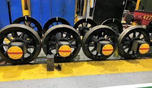 Tender and Trailing Truck Wheels with new Roller Bearings // Credit Icons of Steam