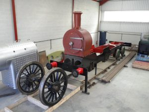 Frame, Smokebox and Bogie attached // Credit Class G5 Locomotive Company Ltd