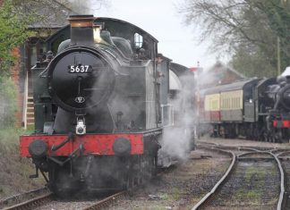5637 and 46447 // Credit East Somerset Railway