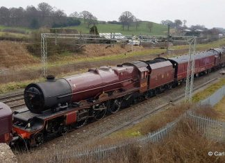 "6201 ""Princess Elizabeth"" on it's way to Carnforth // Credit Carl Stephens"