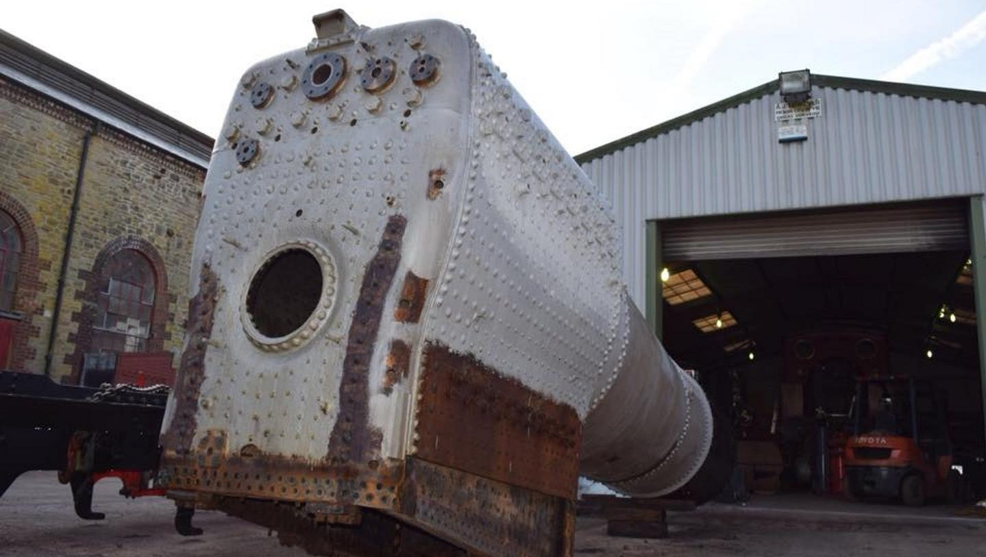 Update on work carried out on steam locomotive 6695\'s boiler