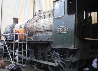 7812 being Stripped down at Tyseley Locomotive Works // Credit EMF