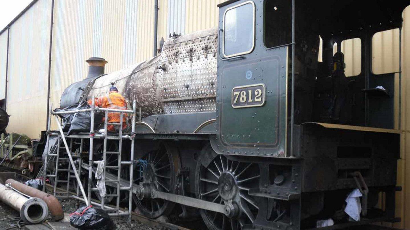 7812 being Stripped down at Tyseley Locomotive Works // Credit EMF