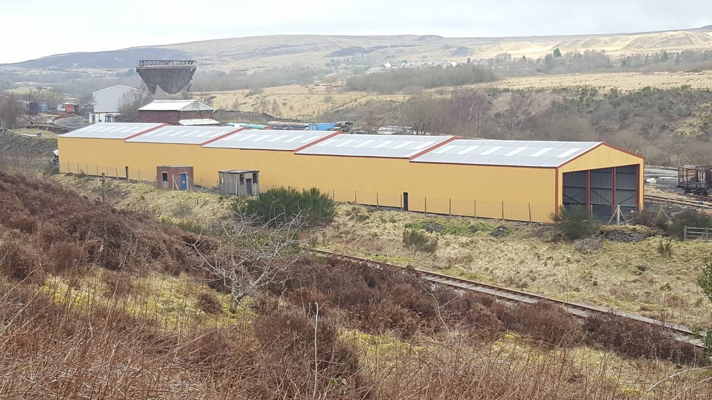 New Carriage and Wagon Shed // Blaenavon's Heritage Railway FB Page
