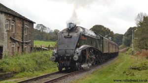 60009 union of south africa at Townsend Fold on the east lancashire railway