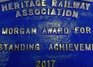 Lynton and Barnstaple railway win Morgan award for steam locomotive Lyn