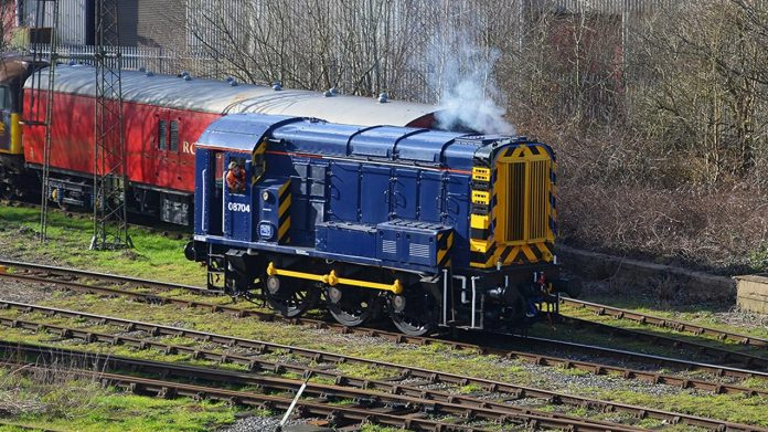 Class 08 08704 set for Ecclesbourne Valley Railway visit