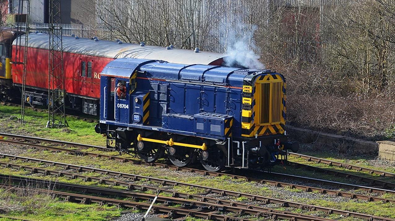 Class 08 08704 set for Ecclesbourne Valley Railway visit