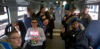 Thameslink and their Try a Train event with students from Bedford College