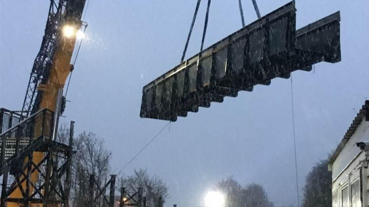 railway foot crossing replaced by £3 million footbridge