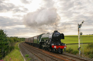 Flying Scotsman hauling a railtour