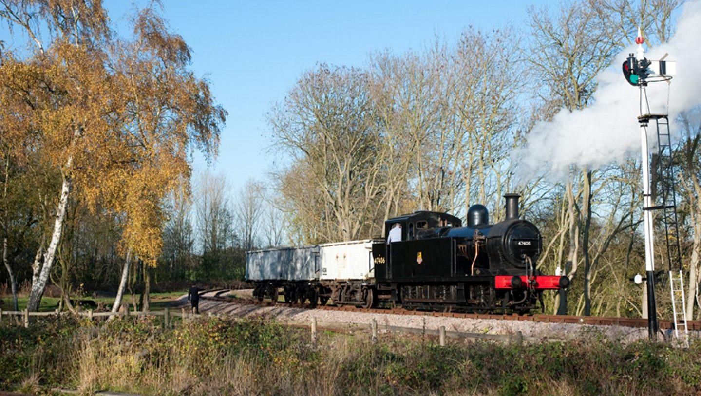 Stem Locomotive 47406 on Mountsorrel Line // Credit Great Central Railway