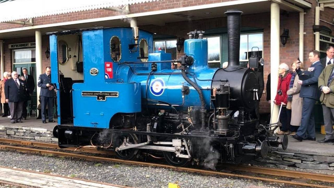 Steam Locomotive Douglas Given A New Repaint For The Raf