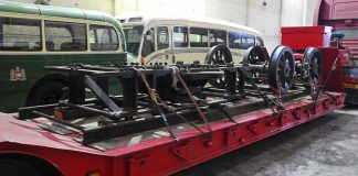 Bogie Components ready for transporting to Williton Works // Credit Thornbury Castle 7027 website