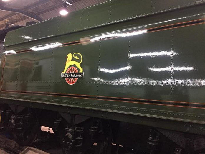 Newly Painted Tender with Early BR Crest Applied // Credit Modified Hall 6984 'Owsden Hall' FB Page