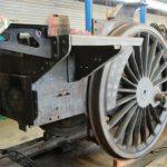 Start of Needle-Gunning on steam locomotive No. 73050