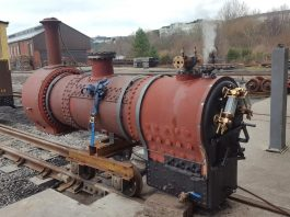"Boiler of No.3 ""Sir Haydn"" // Credit Vale of Rheido"