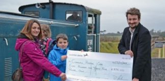 Pink Train from Helston Raiwlay raises hundreds for local charity