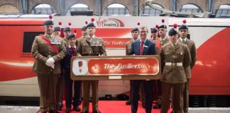 Virgin Trains name class 91 'The Fusiliers'