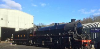 B1 1264 in its new livery at Grosmont